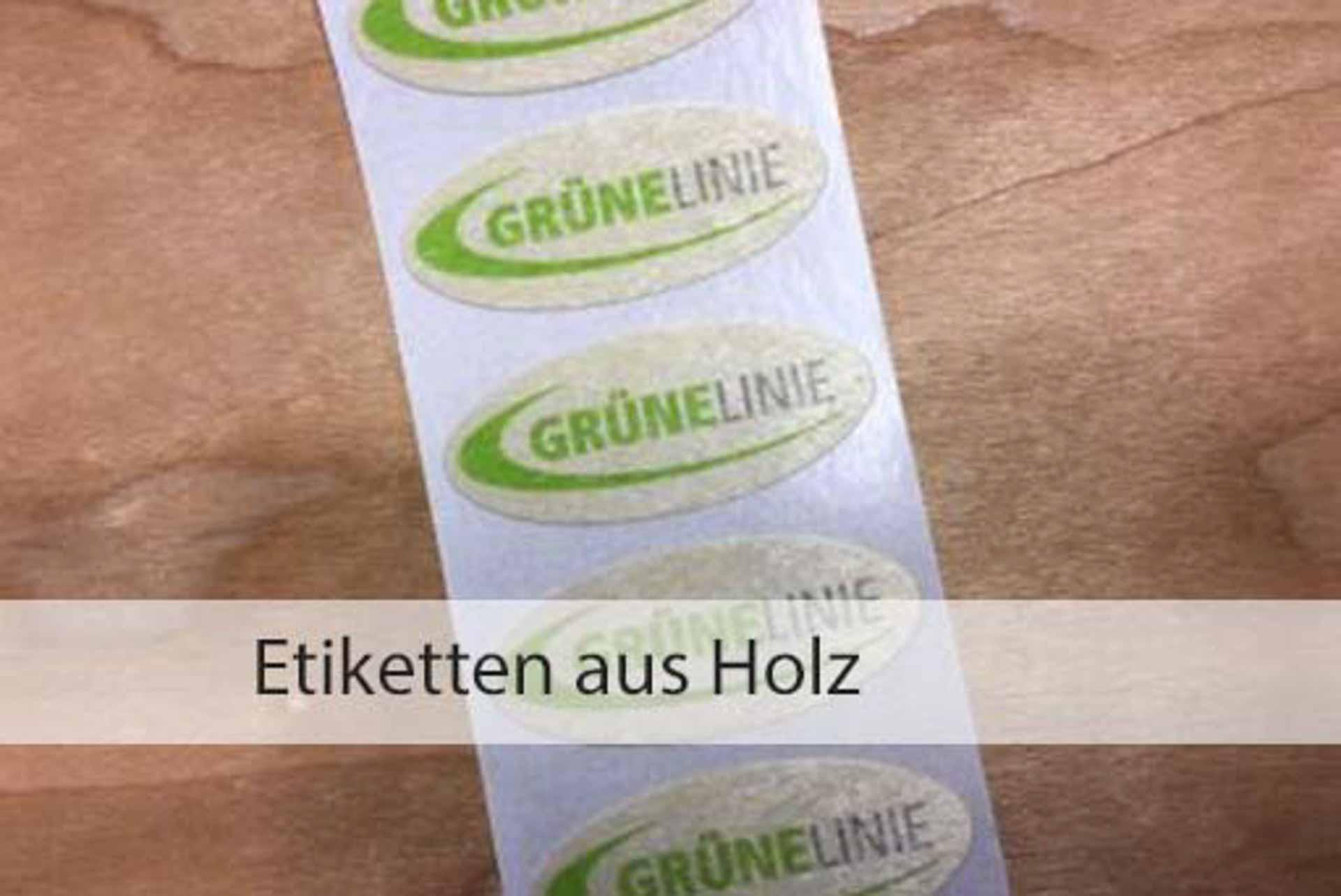 Etiketten aus Holz | Papier-Schäfer GmbH & Co. KG