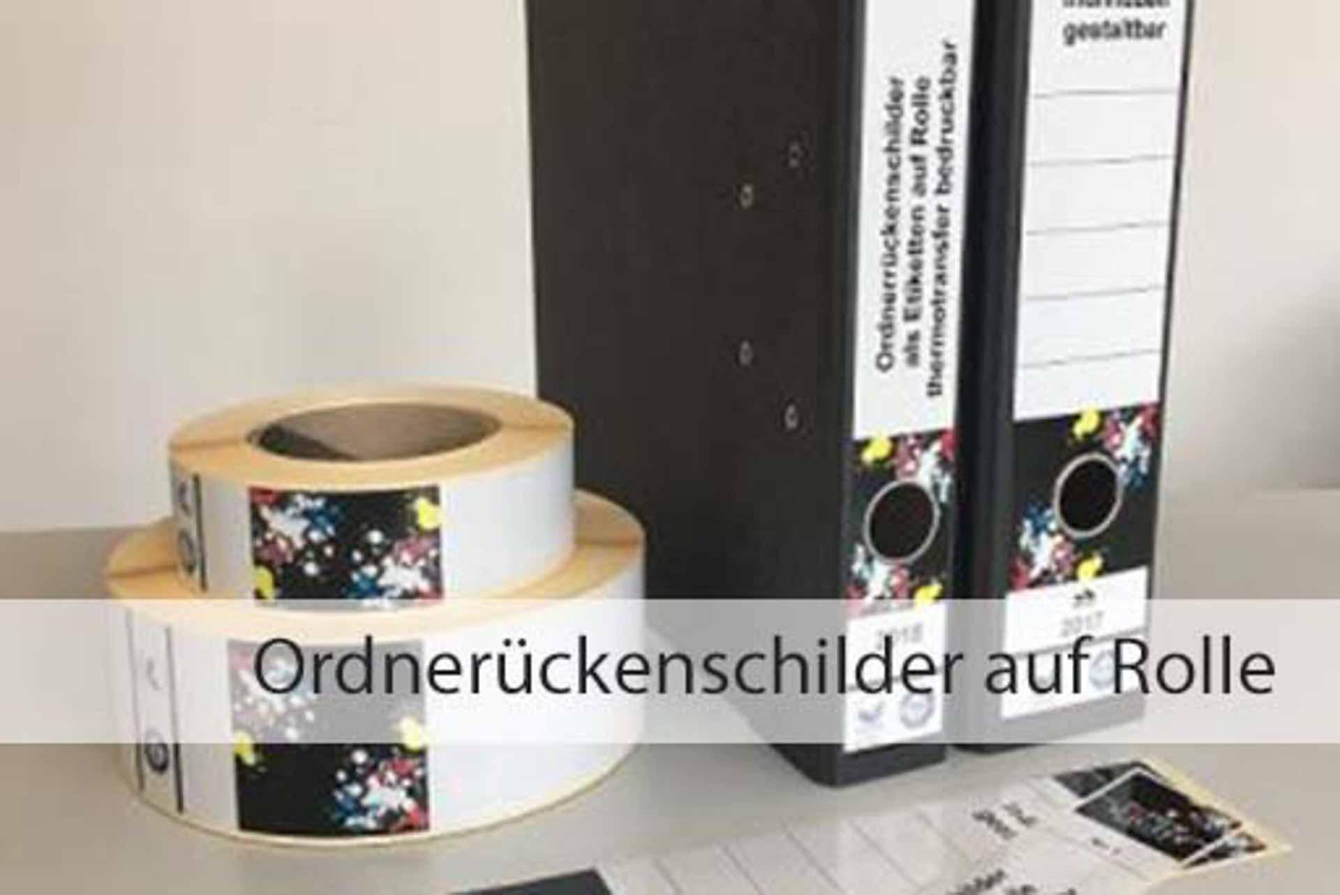 Ordnerrückenschilder auf Rolle | Papier-Schäfer-GmbH & Co. KG