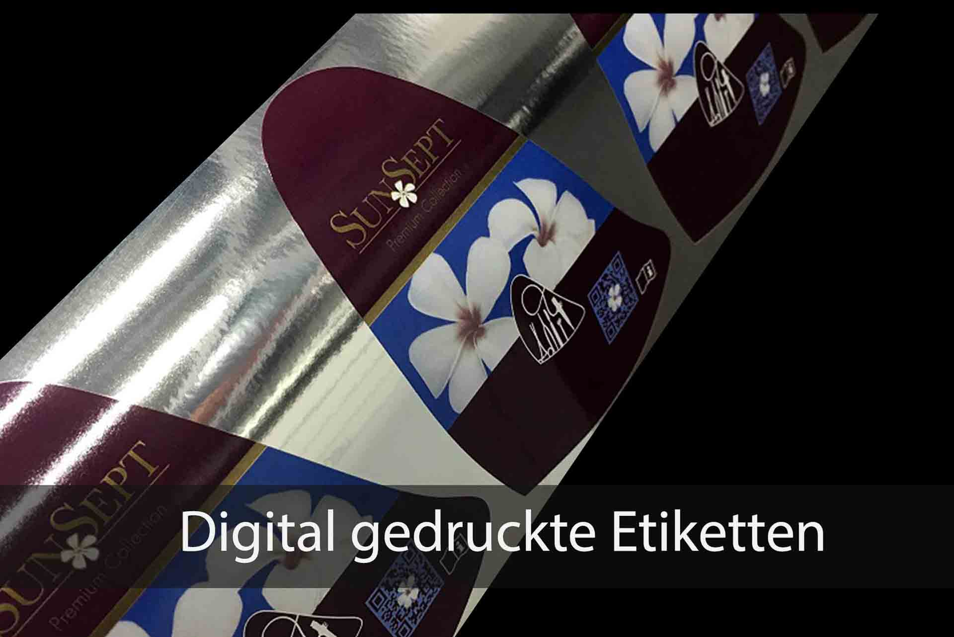 Digital gedruckte Etiketten | Papier-Schäfer GmbH & Co. KG